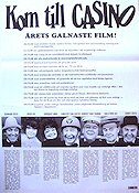 Kom till Casino 1974 Movie poster G�sta Bernhard