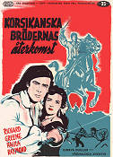The Bandits of Corsica 1954 Movie poster Richard Greene