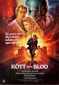 Flesh and Blood 1985 poster Rutger Hauer Paul Verhoeven