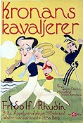 Kronans kavaljerer 1930 Movie poster Fridolf Rhudin
