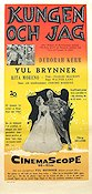 The King and I 1956 Movie poster Yul Brynner
