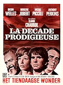 La decade prodigieuse 1971 Movie poster Orson Welles Claude Chabrol