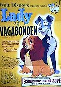 Lady and the Tramp Poster 62x84cm Denmark FN original