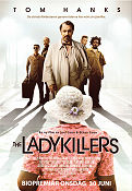 The Ladykillers 2004 Movie poster Tom Hanks Joel Ethan Coen