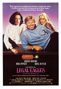 Legal Eagles 1984 Movie poster Robert Redford