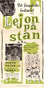 Lejon p� stan 1960 Movie poster Nils Poppe