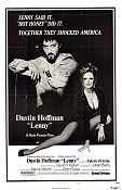 Lenny 1974 Movie poster Dustin Hoffman Bob Fosse