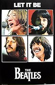 Let It Be 1970 Movie poster Beatles