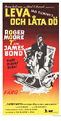 Live and Let Die 1973 poster Roger Moore