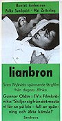 Lianbron 1965 Movie poster Harriet Andersson Sven Nykvist