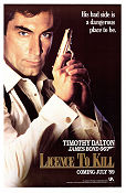 Licence to Kill 1989 Movie poster Timothy Dalton