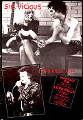 Love Kills NYC 1986 Movie poster Sid Vicious