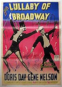 Lullaby of Broadway 1951 poster Doris Day