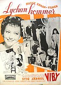 Lyckan kommer 1942 Movie poster Marguerite Viby Hasse Ekman
