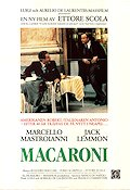 Macaroni 1985 Movie poster Jack Lemmon Ettore Scola
