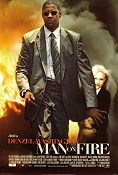 Man on Fire 2003 Movie poster Denzel Washington Tony Scott