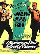 The Man Who Shot Liberty Valance 1962 Movie poster John Wayne John Ford