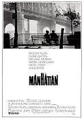 Manhattan 1979 Movie poster Diane Keaton Woody Allen