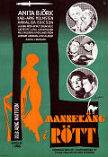 Mannequin in Red 1958 Movie poster Anita Bj�rk Arne Mattsson