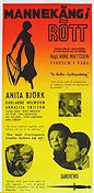 Mannequin in Red 1958 Movie poster Anita Björk Arne Mattsson