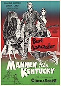 The Kentuckian 1955 Movie poster Burt Lancaster