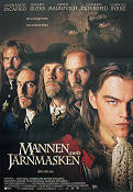 The Man in the Iron Mask 1998 Movie poster Leonardo di Caprio