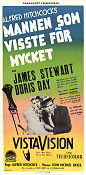 The Man Who Knew too Much 1956 poster James Stewart Alfred Hitchcock