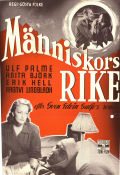 M�nniskors rike 1949 Movie poster Ulf Palme