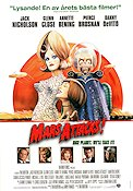 Mars Attacks 1997 Movie poster Jack Nicholson Tim Burton