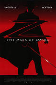 The Mask of Zorro 1998 Movie poster Antonio Banderas