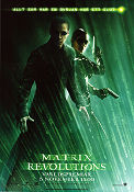 The Matrix Revolutions 2003 poster Keanu Reeves Andy Wachowski