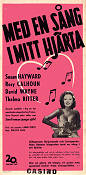 With a Song in My Heart 1952 poster Susan Hayward Lamar Trotti