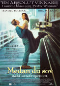 While You Were Sleeping 1993 Movie poster Sandra Bullock