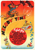Melody Time 1951 Movie poster Andrews Sisters