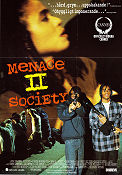 Menace II Society 1993 Movie poster Tyrin Turner Hughes Brothers