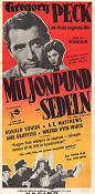 The Million Pound Note 1954 poster Gregory Peck