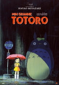 Totoro Studio Ghibli 2007 movie poster Sweden