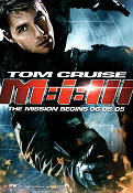 Mission Impossible 3 2006 Movie poster Tom Cruise JJ Abrams