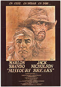 Missouri Breaks 1977 Movie poster Marlon Brando Arthur Penn