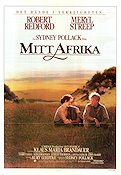 Out of Africa 1985 Movie poster Meryl Streep Sydney Pollack