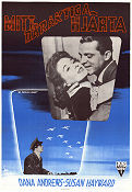My Foolish Heart 1949 Movie poster Dana Andrews