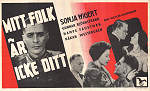 Mitt folk �r icke ditt 1944 Movie poster Sonja Wigert
