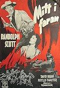 Fort Worth 1952 poster Randolph Scott