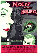 Moln �ver Hellesta 1956 Movie poster Anita Bj�rk Rolf Husberg