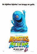 Monsters vs Aliens 2009 poster