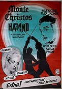 Monte Christos hämnd 1961 Movie poster Elina Colomer