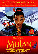 Mulan 1998 Movie poster