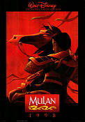 Mulan 1998 Movie poster Disney