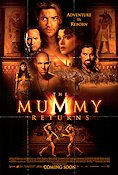 The Mummy Returns 2001 Movie poster Brendan Fraser