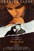 Music Box 1989 Movie poster Jessica Lange Costa-Gavras